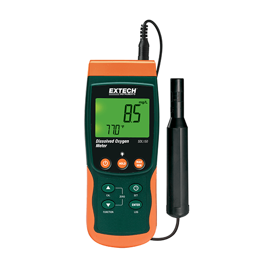Electronic Water Meter Data Log : Extech sdl dissolved oxygen meter datalogger all measure